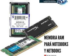 Memoria ram pará notebooks y netbooks c/delivery